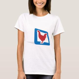 Red vector Chicken T-Shirt
