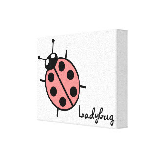 Red Vector Ladybug Canvas Print