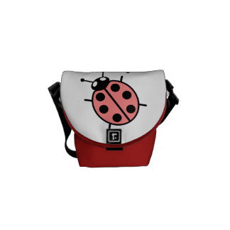 Red Vector Ladybugs Courier Bag