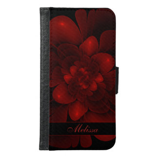 Red Velvet Bloom Samsung Galaxy S6 Wallet Case