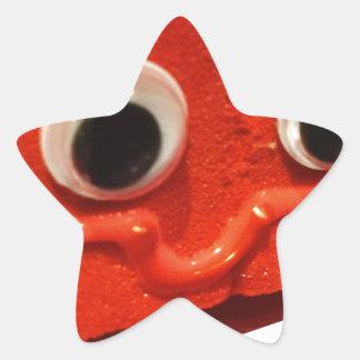 red velvet cake face w logo star sticker