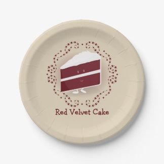Red Velvet Cake | Paper Plate