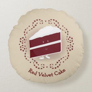 Red Velvet Cake   Round Pillow