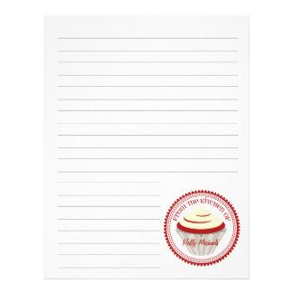 Red Velvet Cupcake From The Kitchen Of...Paper Letterhead