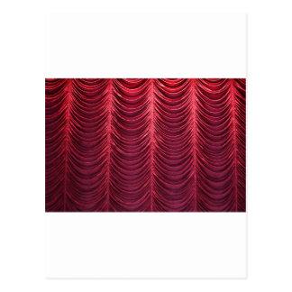 Red Velvet Curtain Postcard