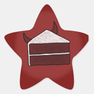 Red Velvet Devil Cake Star Sticker