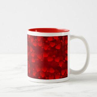 Red Velvet Hearts Valentine's Day Gift Mug