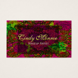 Red Velvet Rose Glitter w/ Heart Business Card