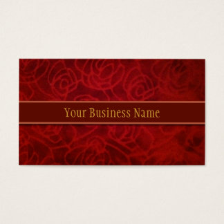 Red Velvet Texture business card
