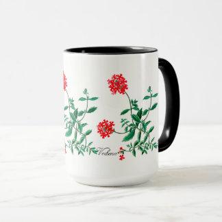 Red Verbena with Black Inside Mug