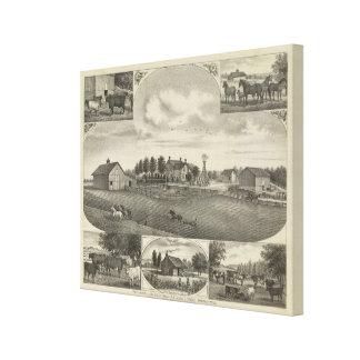 Red Vermillion Stock Farm, Havensville, Kansas Canvas Print