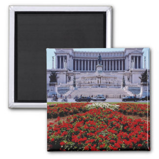 Red Victor Emmanuel Monument, Rome, Italy flowers Magnet