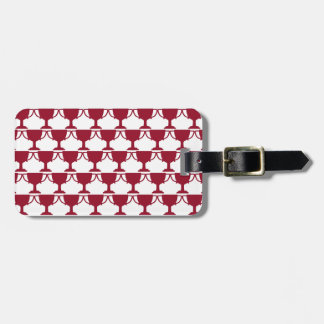 Red Victorian Lace Luggage Tag