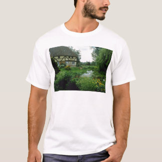 Red View Of 15th Century House With Marigolds, Ach T-Shirt