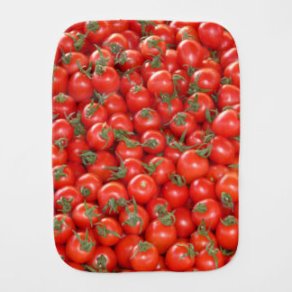 Red Vine Tomatoes Baby Burp Cloth