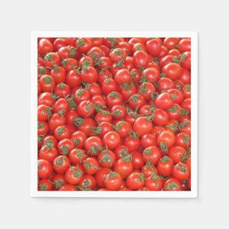 Red Vine Tomatoes Paper Napkins