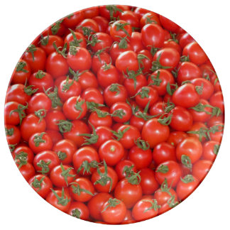 Red Vine Tomatoes Porcelain Plate