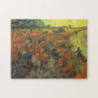 Red Vineyard by van Gogh Vintage Impressionism Art Jigsaw Puzzle