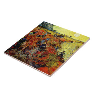 Red Vineyard Van Gogh Fine Art Tile