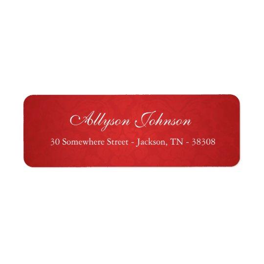 Red Vintage Background Return Address Labels
