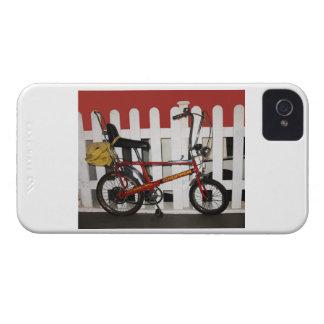Red vintage bike  retro 1970s chopper Case-Mate iPhone 4 cases