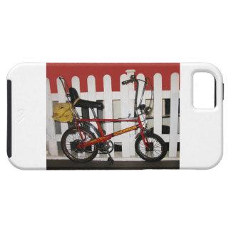 Red vintage bike  retro 1970s chopper iPhone 5 case
