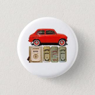 Red Vintage Car 1 Inch Round Button
