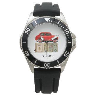 Red Vintage Car Watch