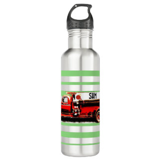 Red Vintage Fire Truck 710 Ml Water Bottle