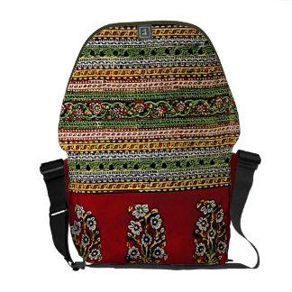 Red Vintage Floral Courier Bag