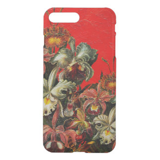 Red Vintage Flowers Oil Brush Painting iPhone 7 Plus Case