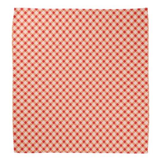 Red vintage gingham bandanna