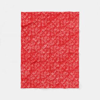 Red Vintage Pattern Fleece Blanket