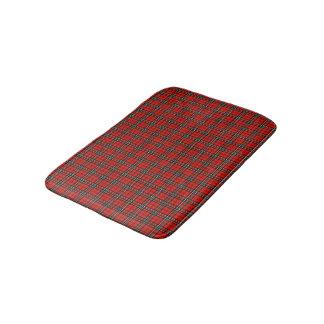 Red Vintage Plaid Bath Mat