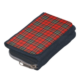 Red Vintage Plaid Wallet