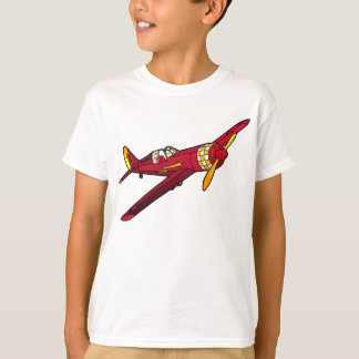 Red Vintage Plane Kid's T-Shirt
