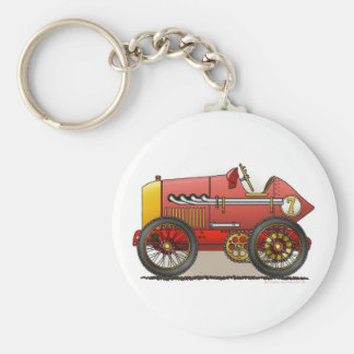 Red Vintage Race Car Key Chains