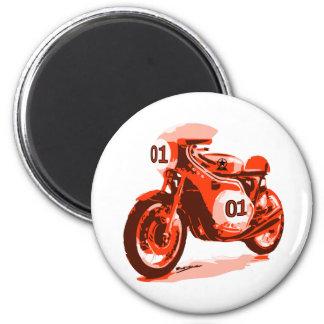 Red Vintage Racing Motorcycle Magnet