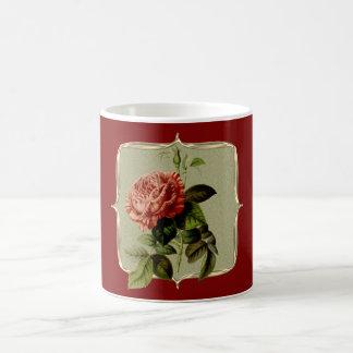 Red Vintage Rose Coffee Mug