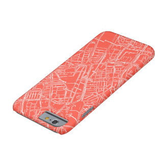 Red Vintage Street Map Phone Case