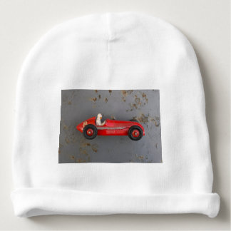 Red vintage toy car baby beanie