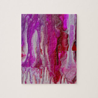 Red Violet and Silver Flow Jigsaw Puzzle