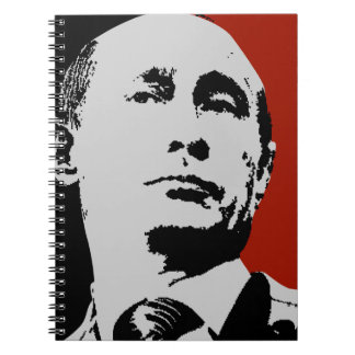 Red Vladimir Putin Spiral Notebook