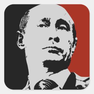 Red Vladimir Putin Square Sticker