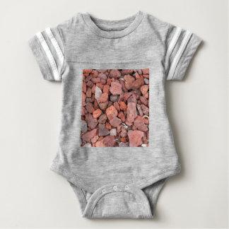 Red Volcanic Rocks Ground Cover Baby Bodysuit