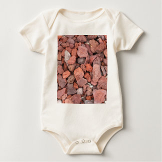 Red Volcanic Rocks Ground Cover Baby Bodysuit