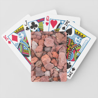 Red Volcanic Rocks Ground Cover Bicycle Playing Cards