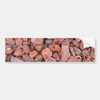 Red Volcanic Rocks Ground Cover Bumper Sticker