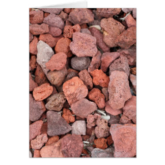 Red Volcanic Rocks Ground Cover Card