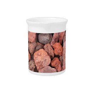 Red Volcanic Rocks Ground Cover Drink Pitchers